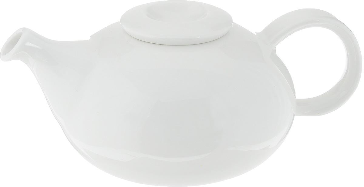 Чайник заварочный Ariane Коуп, 400 млAVCARN62040Заварочный чайник Ariane Коуп изготовлен из высококачественного фарфора. Глазурованное покрытие обеспечивает легкую очистку. Изделие прекрасно подходит для заваривания вкусного и ароматного чая, а также травяных настоев. Оригинальный дизайн сделает чайник настоящим украшением стола. Он удобен в использовании и понравится каждому. Можно мыть в посудомоечной машине и использовать в микроволновой печи. Диаметр чайника (по верхнему краю): 4 см. Высота чайника (без учета крышки): 7 см. Высота чайника (с учетом крышки): 8 см.