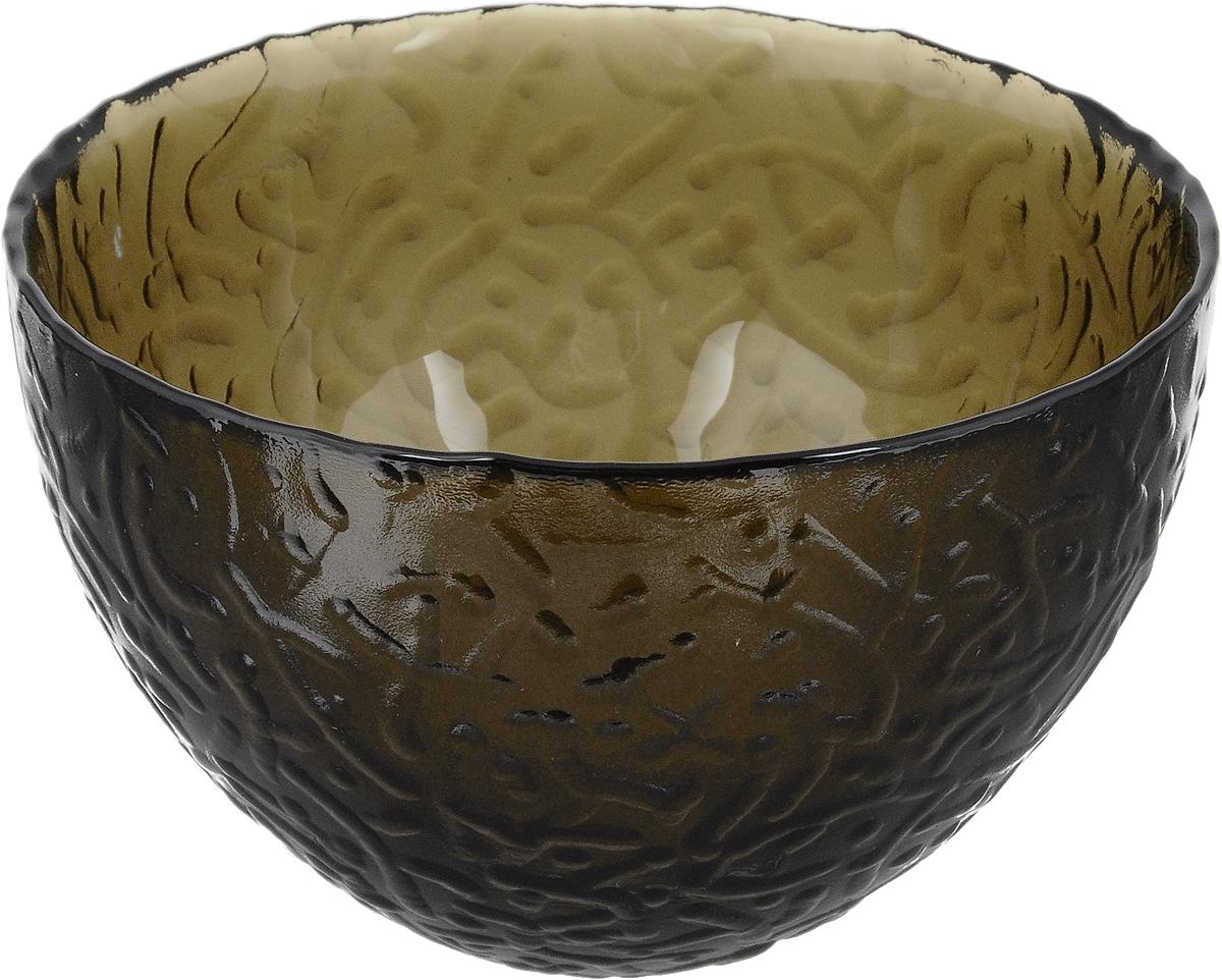Салатник NiNaGlass Ажур, цвет: дымчатый, диаметр 12 смNG83-040ФСалатник NiNaGlass Ажур выполнен из высококачественного стекла и имеет рельефную поверхность. Он прекрасно впишется в интерьер вашей кухни и станет достойным дополнением к кухонному инвентарю. Не рекомендуется использовать в микроволновой печи и мыть в посудомоечной машине.