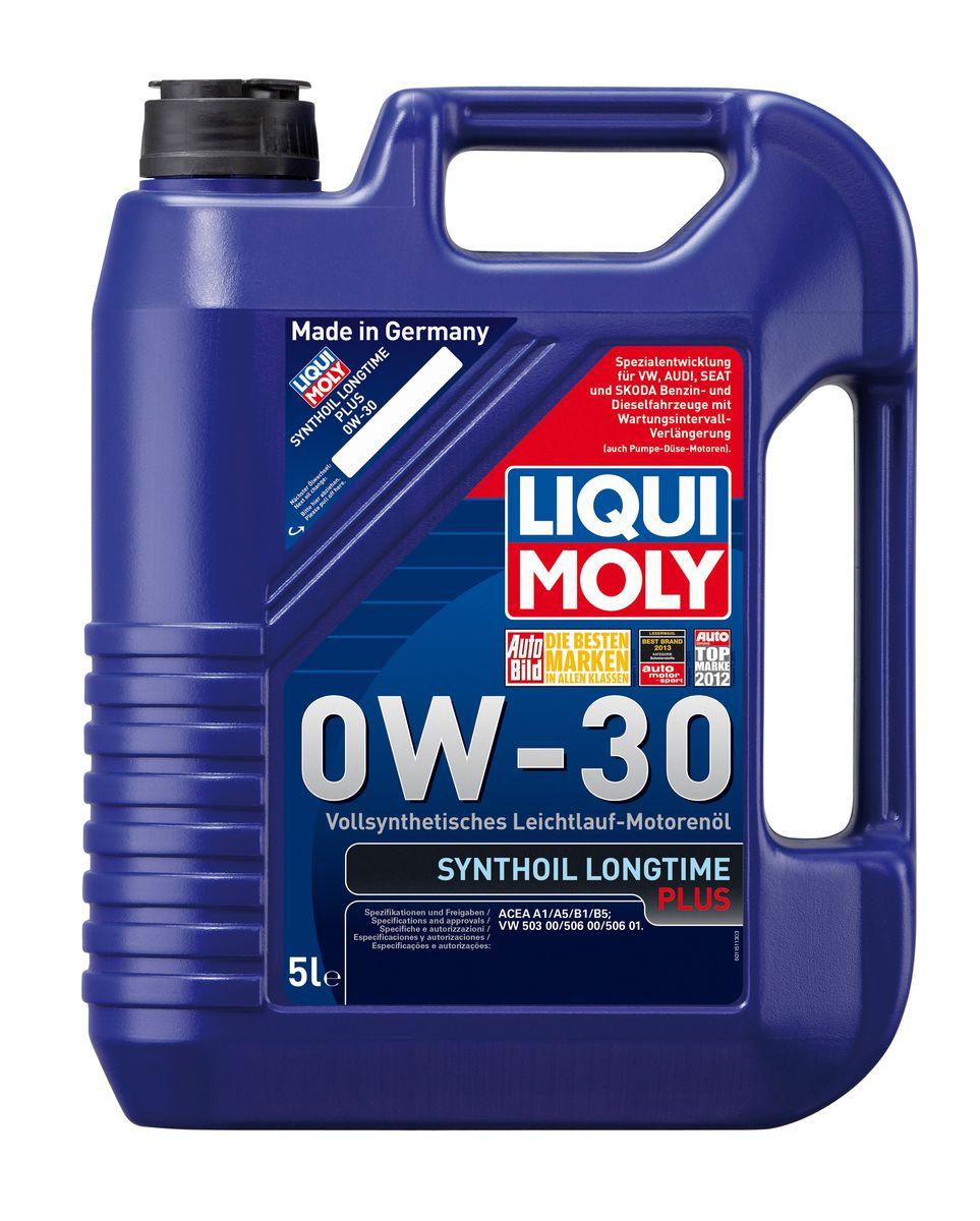 Масло моторное Liqui Moly Synthoil Longtime Plus, синтетическое, 0W-30, 5 л1151Масло моторное Liqui Moly Synthoil Longtime Plus - специальный продукт для автомобилей VW с двигателями R5 TDI и V10 TDI выпуска до 06.2006 (для других двигателей - Top Tec 4200). 100% ПАО-синтетическое всесезонное масло, специально разработанное под особые требования Volkswagen Group. Подходит для использования в бензиновых и дизельных автомобилях с турбонаддувом и без него. Значительно снижает расход топлива и одновременно повышает ресурс двигателя. Комбинация синтетической базы и передовых технологий в области разработок присадок гарантирует низкую вязкость масла при низких температурах, высокую надежность масляной пленки. Масло предотвращает образование отложений в двигателе, снижает трение и защищает от износа. Особенности: - Очень высокие показатели по экономии топлива - Быстрое поступление масла к деталям двигателя при низких температурах - Отличная чистота двигателя - Очень высокая защита от износа и надежность смазывания -...