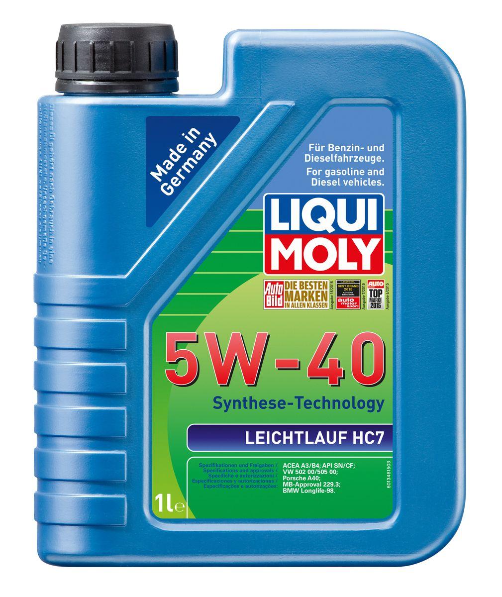 Масло моторное Liqui Moly Leichtlauf HC 7, НС-синтетическое, 5W-40, 1 л1346Масло моторное Liqui Moly Leichtlauf HC 7 - HC-синтетическое моторное масло с пакетом присадок, удовлетворяющее требованиям широкого спектра современных автомобилей. Благодаря новейшим технологиям синтеза и вязкости 5W-40 масло обеспечивает высокий уровень защиты и оптимальное смазывание деталей двигателя. Масло создано на основе базовых компонентов, произведенных по технологии HC-синтеза, с учетом самых высоких требований, предъявляемых современными и мощными бензиновыми и дизельными двигателями. Оно обеспечивает отличную смазку при любых условиях эксплуатации. Одновременно снижается до минимума трение, в результате чего уменьшается расход топлива. Особенности: - быстрое поступление масла к деталям двигателя при низких температурах, - надежная защита от износа, - низкий расход масла, - оптимальная чистота двигателя, - экономия топлива и снижение вредных выбросов, - проверено на турбированных двигателях и катализаторе....