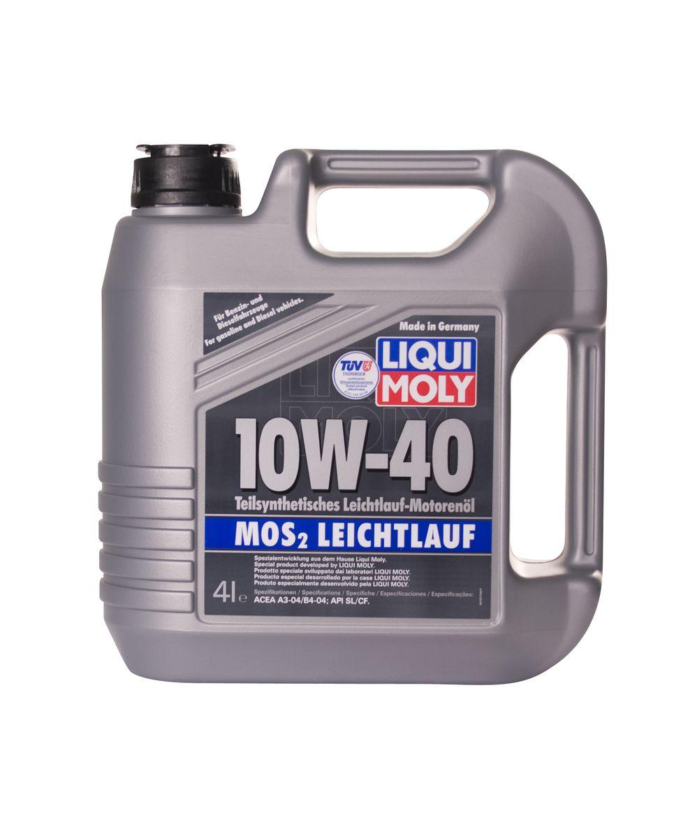 Масло моторное Liqui Moly MoS2 Leichtlauf, полусинтетическое, 10W-40, 4 л1917Масло моторное Liqui Moly MoS2 Leichtlauf - полусинтетическое моторное масло с добавлением дисульфида молибдена - визитной карточки компании Liqui Moly, эффективность рецептуры которой проверена десятилетиями. Масло предназначено для бензиновых и дизельных двигателей (в том числе для турбомоторов) новых автомобилей (без специальных требований к маслу от автопроизводителей), а также для подержанных автомобилей с большим пробегом, которые эксплуатируются в жестких условиях. В моторном масле используются синтетические и минеральные базовые компоненты, отличающиеся высокими защитными свойствами. Оптимальное содержание присадок, а также смазывающего материала обеспечивает отличные смазывающие свойства масла при самых критических нагрузках и длительных интервалах смены масла. Особенности: - Очень высокий уровень защиты от износа - Надежное поступление масла к деталям двигателя во всем диапазоне рабочих температур - Очень низкий...