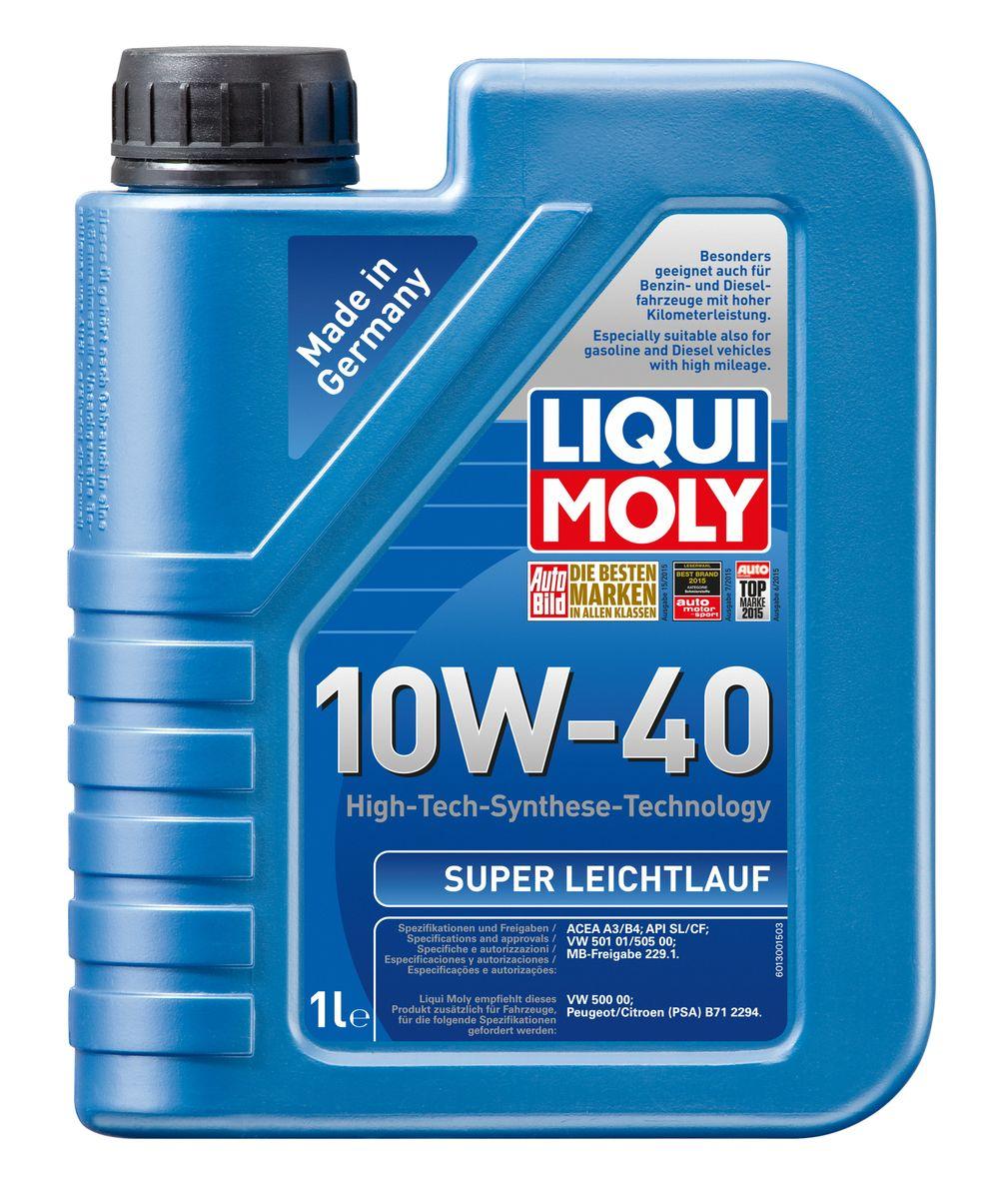 Масло моторное Liqui Moly Super Leichtlauf, НС-синтетическое, 10W-40, 1 л1928Масло моторное Liqui Moly Super Leichtlauf - универсальное моторное масло на базе гидрокрекинговой технологии синтеза (HC-синтеза). Удовлетворяет современным требованиям международных стандартов API и ACEA, а также имеет оригинальные допуски таких производителей, как Mercedes-Benz, Volkswagen Group. Масло имеет высокую стабильность к окислению и угару, поэтому может использоваться в нагруженных бензиновых и дизельных двигателях с турбонаддувом и интеркулером. В моторном масле Leichtlauf Super 10W-40 используются базовые компоненты, произведенные по новейшим технологиям синтеза и отличающиеся высочайшими защитными свойствами. Масло содержит современный пакет присадок, который обеспечивает высокий уровень защиты от износа и гарантирует стабильное поступление масла ко всем деталям двигателя. Особенности: - Высокая стабильность масляной пленки при высоких и низких температурах - Высокие противоизносные свойства - Обеспечивает оптимальную чистоту двигателя...