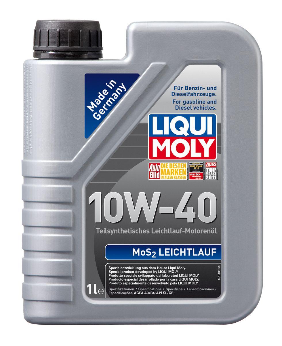 Масло моторное Liqui Moly MoS2 Leichtlauf, полусинтетическое, 10W-40, 1 л1930Масло моторное Liqui Moly MoS2 Leichtlauf - полусинтетическое моторное масло с добавлением дисульфида молибдена - визитной карточки компании Liqui Moly, эффективность рецептуры которой проверена десятилетиями. Масло предназначено для бензиновых и дизельных двигателей (в том числе для турбомоторов) новых автомобилей (без специальных требований к маслу от автопроизводителей), а также для подержанных автомобилей с большим пробегом, которые эксплуатируются в жестких условиях. В моторном масле используются синтетические и минеральные базовые компоненты, отличающиеся высокими защитными свойствами. Оптимальное содержание присадок, а также смазывающего материала обеспечивает отличные смазывающие свойства масла при самых критических нагрузках и длительных интервалах смены масла. Особенности: - Очень высокий уровень защиты от износа - Надежное поступление масла к деталям двигателя во всем диапазоне рабочих температур - Очень низкий...
