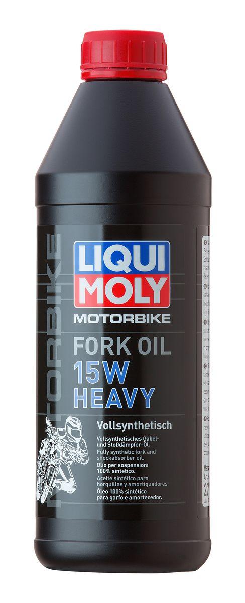 Масло для вилок и амортизаторов Liqui Moly Motorbike Fork Oil Heavy, синтетическое, 15W, 1 л2717Масло для вилок и амортизаторов Liqui Moly Motorbike Fork Oil Heavy - 100% ПАО-синтетическое масло для использования в качестве демпфирующей жидкости в гидравлических амортизаторах большинства классических мотоциклов и другой мототехники. Оптимально для использования в короткоходных подвесках классиков, чопперов и спортбайков, согласно рекомендациям производителей. Препятствует вспениванию, облегчает ход вилки, снижает износ. Обеспечивает плавный ход и отличную амортизацию. Повышает безопасность езды. Возможно использование в изношенных амортизаторах для повышения их жесткости.