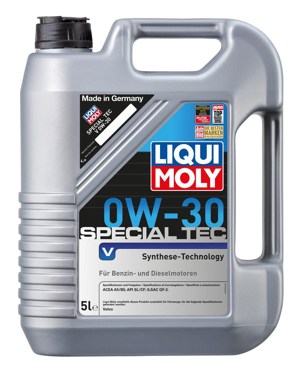 Масло моторное Liqui Moly Special Tec V, НС-синтетическое, 0W-30, 5 л2853Масло моторное Liqui Moly Special Tec V рекомендуется для автомобилей Volvo. НС-синтетическое легкотекучее моторное масло обладает отличной термоокислительной стабильностью, эффективно снижает износ, уменьшает потери на трение, предотвращает загрязнение двигателя. Оптимально для современных двигателей с управлением фазами ГРМ и высотой подъема клапанов, турбонаддувом, интеркулером, охлаждением газов рециркуляции. Используемая в Special Tec V рецептура базовых компонентов на основе новейших технологий синтеза, обеспечивает высочайшие защитные свойства в сочетании с отличными низкотемпературными характеристиками масла. Использование современного пакета присадок обеспечивает исключительную защиту от износа и снижение расхода топлива. Особенности: - Отличные пусковые свойства в мороз - Быстрое поступление масла ко всем деталям двигателя при низких температурах - Сокращает расход топлива и эмиссию выхлопных газов - Высокая смазывающая способность ...