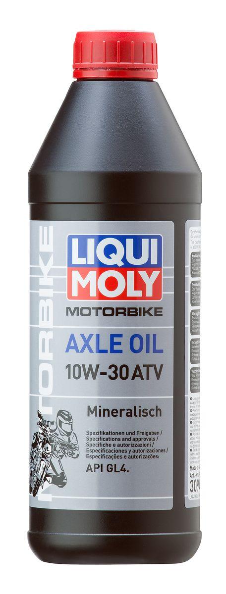 Масло трансмиссионное Liqui Moly Motorbike Axle Oil ATV, минеральное, 10W-30, GL-4, 1 л3094Масло трансмиссионное Liqui Moly Motorbike Axle Oil ATV - минеральное трансмиссионное масло для редукторов и муфт подключения переднего привода квадроциклов. Всесезонное. Для стандартных и тяжелых условий эксплуатации, в том числе при отрицательных температурах. Снижает трение, износ. Способствует экономии топлива. Оптимально для сервисного использования. Для стандартных интервалов замены. Минеральная базовая основа и современные присадки гарантируют надежность эксплуатации средне- и сильно нагруженных редукторов квадроциклов, стойкость масляной пленки, совместимость с материалами фрикционных муфт. Масло облегчает ход редуктора, снижает шумы в работе. Увеличивает ресурс редуктора, поддерживает детали в чистоте. Особенности: - Строго нормированный коэффициент трения для оптимальной работы фрикционных муфт - Низкое сопротивление вращению, энергосберегающие свойства - Восприятие ударных нагрузок - Высокая смазывающая способность - Устойчивость...
