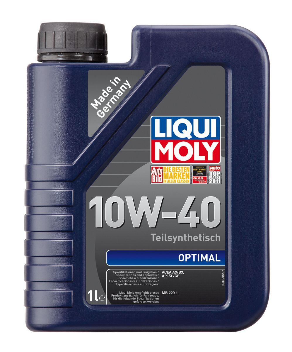 Масло моторное Liqui Moly Optimal, полусинтетическое, 10W-40, 1 л3929Масло моторное Liqui Moly Optimal - это полусинтетическое моторное масло с адаптированным для российских условий пакетом присадок, которые в сочетании с вязкостью 10W-40 обеспечивают высокий уровень защиты. Масло оптимально подходит для таких российских марок, как ВАЗ и ГАЗ. Optimal 10W-40 удовлетворяет современным международным стандартам API/ACEA. В моторном масле используются синтетические и минеральные базовые компоненты, отличающиеся высокими защитными свойствами. Масло содержит современный пакет присадок, который обеспечивает высокий уровень защиты от износа и гарантирует стабильное поступление масла ко всем деталям двигателя.