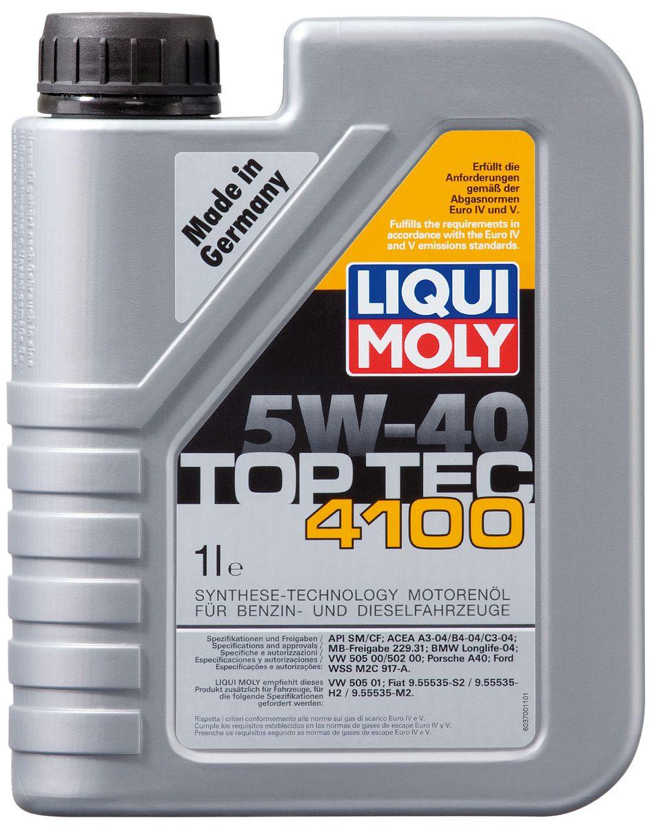 Масло моторное Liqui Moly Top Tec 4100, НС-синтетическое, 5W-40, 1 л7500Масло моторное Liqui Moly Top Tec 4100 рекомендуется для бензиновых и дизельных двигателей Mercedes-Benz, BMW, Ford (насос-форсуночные дизели), Honda, Fiat, для всех Porsche с оригинальными двигателями. HC-синтетическое малозольное (Mid SAPS) моторное масло для бензиновых и дизельных двигателей легковых автомобилей, оснащенных двойной системой нейтрализации отработавших газов (в том числе DPF). Соответствует экологическим нормам EURO 4 и выше. Отлично подходит при использовании природного и сжиженного газа (CNG/LPG). В моторных маслах Top Tec используются базовые компоненты, произведенные по новейшим технологиям синтеза и отличающиеся высочайшими защитными свойствами. Масла содержат специальный пакет присадок с пониженным содержанием соединений серы, фосфора и хлора, что обеспечивает совместимость со специфическими системами нейтрализации и обеспечивает минимальные выбросы вредных веществ. Особенности: - Сокращает вредные выбросы - Совместимо с...