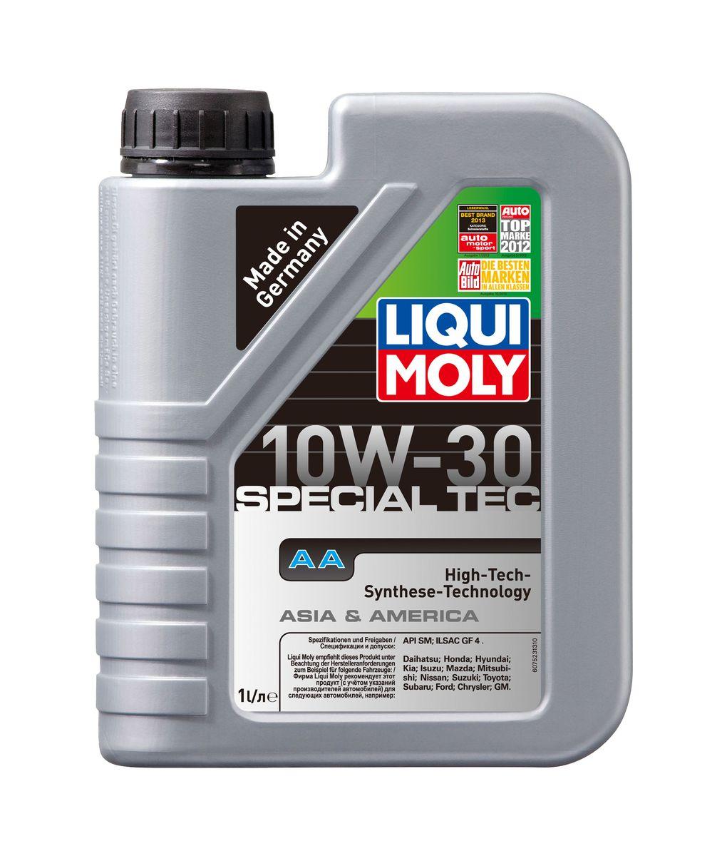 Масло моторное Liqui Moly Special Tec AA, НС-синтетическое, 10W-30, 1 л7523Масло моторное Liqui Moly Special Tec AA рекомендуется для автомобилей Honda, Mazda, Mitsubishi, Nissan, Daihatsu, Hyundai, Kia, Isuzu, Suzuki, Toyota, Subaru, Ford, Chrysler, GM. Современное HC-синтетическое энергосберегающее моторное масло специально предназначено для всесезонного использования в большинстве двигателей современных американских и азиатских бензиновых автомобилей. Также подходит для двигателей предыдущих поколений автомобилей. Базовые масла, полученные по технологии синтеза, и новейшие присадки составляют рецептуру моторного масла с отменной защитой от износа, снижающего расход топлива и масла, обеспечивающего чистоту двигателя. Особенности: - Высочайшие показатели топливной экономии - Сокращает эмиссию выхлопных газов - Отличная чистота двигателя - Совместимо с новейшими системами нейтрализации отработавших газов бензиновых двигателей - Высокая защита от износа и надежность смазывания - Очень...