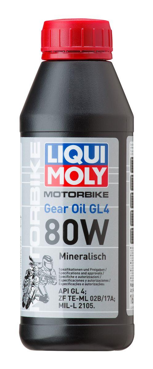 Масло трансмиссионное Liqui Moly Motorbike Gear Oil, минеральное, 80W, GL-4, 500 мл7587Масло трансмиссионное Liqui Moly Motorbike Gear Oil - минеральное трансмиссионное масло для коробок передач и редукторов малокубатурной мотоциклетной техники. Всесезонное. Для стандартных условий эксплуатации, в том числе при отрицательных температурах. Снижает трение, износ. Способствует экономии топлива. Оптимально для сервисного использования. Для стандартных интервалов замены. Минеральная базовая основа и современные присадки гарантируют надежность эксплуатации средне- и сильно нагруженных агрегатов трансмиссии мототехники, стойкость масляной пленки, совместимость с деталями из цветных металлов и фрикционами сцепления. Масло облегчает переключение передач. Увеличивает ресурс агрегатов, поддерживает детали в чистоте. Особенности: - Низкое сопротивление вращению, энергосберегающие свойства - Восприятие ударных нагрузок - Высокая смазывающая способность - Устойчивость к старению - Чистота агрегатов - Стабильность при высоких...