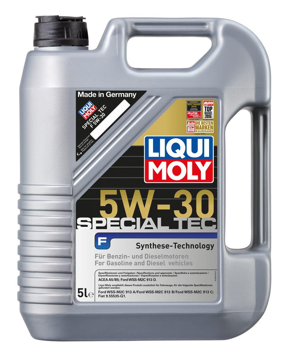 Масло моторное Liqui Moly Special Tec F, НС-синтетическое, 5W-30, 5 л8064Масло моторное Liqui Moly Special Tec F рекомендуется для широкого спектра двигателей Ford, особенно для легкого коммерческого транспорта. Моторное масло на основе НС-синтетической технологии. Оптимально для современных бензиновых и дизельных двигателей, в том числе многоклапапанных, с системой управления фазами газораспределения, турбонаддувом, охлаждением наддувочного воздуха (LLK), фильтром сажевых частиц (DPF). Благодаря комбинации НС-синтетических базовых масел и самых современных присадок моторные масла Special Tec F обеспечивают исключительную защиту от износа, снижение расхода топлива и стабильное быстрое поступление масла ко всем деталям двигателя. Удовлетворяет требованиям новейшей спецификации Ford WSS-M2C913-D. Особенности: - Быстрое поступление масла ко всем деталям двигателя при низких температурах - Высочайшие показатели топливной экономии - Замечательные смазывающие свойства - Хорошая стабильность к старению и окислению -...