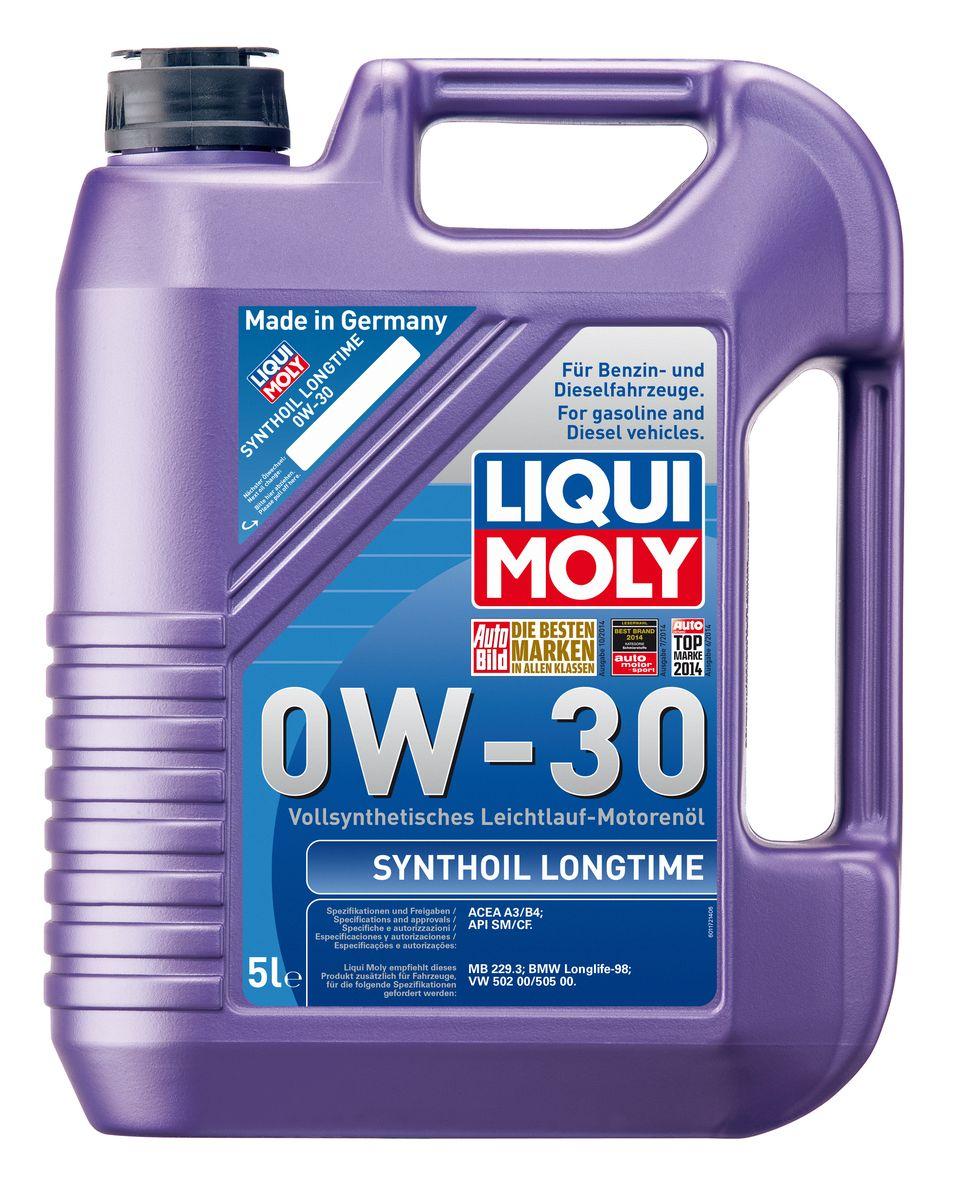 Масло моторное Liqui Moly Synthoil Longtime, синтетическое, 0W-30, 5 л8977Масло моторное Liqui Moly Synthoil Longtime - 100% синтетическое универсальное моторное масло на базе полиальфаолефинов (ПАО) для большинства автомобилей, для которых требования к маслам опираются на международные классификации API и ACEA. Класс вязкости 0W-30 моторного масла на ПАО-базе оптимален для эксплуатации в холодных условиях, обеспечивая уверенный пуск двигателя даже в сильный мороз и высокий уровень энергосбережения (и экономии топлива). Особенности: - Отличные пусковые свойства в мороз - Быстрое поступление масла ко всем деталям двигателя при низких температурах - Высокие показатели по экономии топлива - Высокая смазывающая способность - Замечательная термоокислительная стабильность и устойчивость к старению - Оптимальная чистота двигателя - Протестировано и совместимо с катализаторами и турбонаддувом - Высокая стабильность при высоких температурах - Очень низкий расход масла Допуск: -API: CF/SM ...