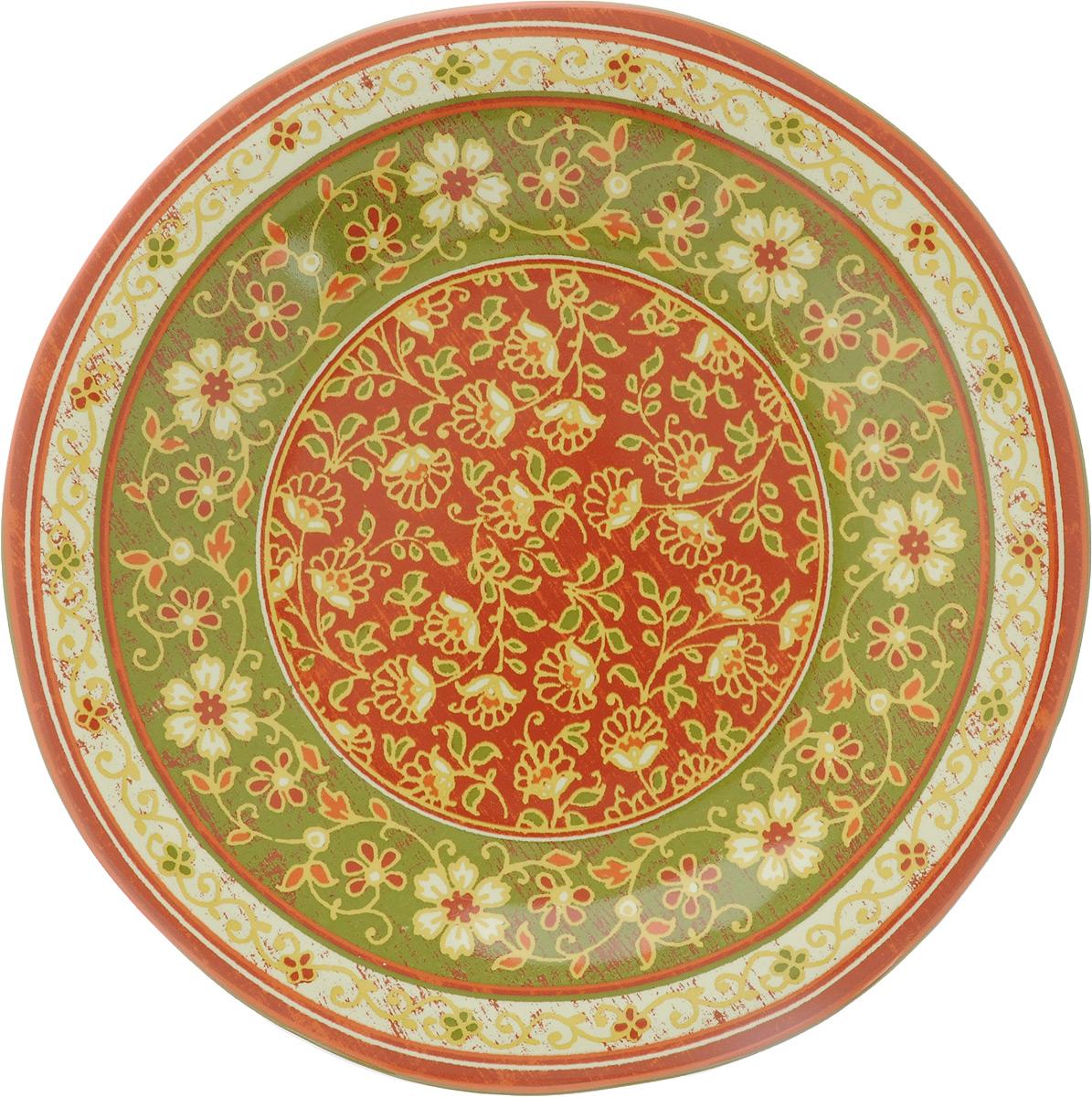 Тарелка десертная Sango Ceramics Кашмир, диаметр 23 смUTT41810Десертная тарелка Sango Ceramics Кашмир, изготовленная из высококачественной керамики, имеет изысканный внешний вид. Такая тарелка прекрасно подходит как для торжественных случаев, так и для повседневного использования. Идеальна для подачи десертов, пирожных, тортов и многого другого. Она прекрасно оформит стол и станет отличным дополнением к вашей коллекции кухонной посуды. Можно использовать в посудомоечной машине и СВЧ. Диаметр тарелки: 23 см. Высота тарелки: 3 см.
