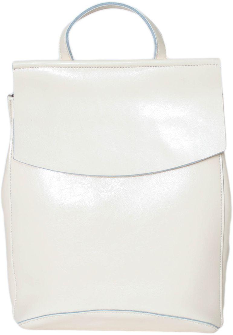 Рюкзак женский Flioraj, цвет: молочный. 16081608 beigeРюкзак Flioraj выполнен из высококачественной натуральной кожи. Изделие оснащено ручкой для подвешивания и удобными лямками. На тыльной стороне расположен карман на молнии. Рюкзак закрывается клапаном. Внутри расположено главное отделение на молнии, которое содержит два кармана на молнии и два открытых кармана.