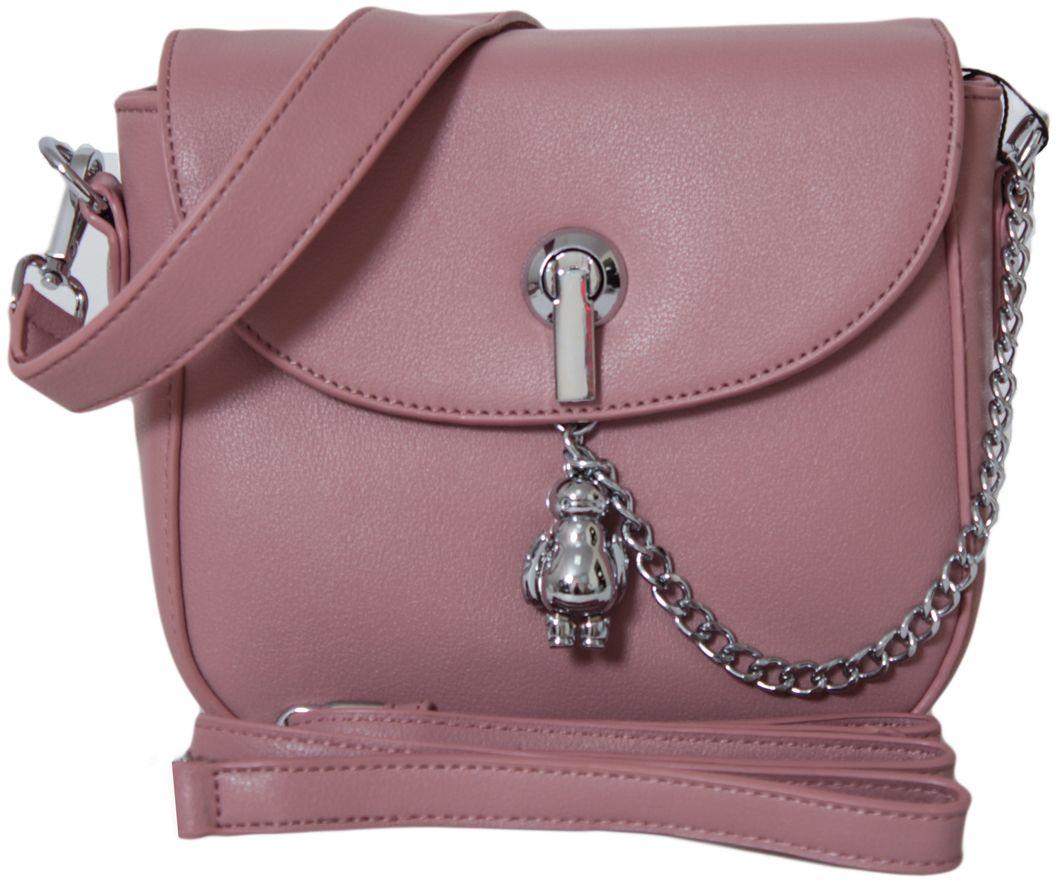 Клатч женский Flioraj, цвет: розовый. 88298829 pinkЗакрывается на молнию. Внутри одно отделение, два кармана для мобильного телефона, карман на молнии. В комплекте длинный наплечный ремень.