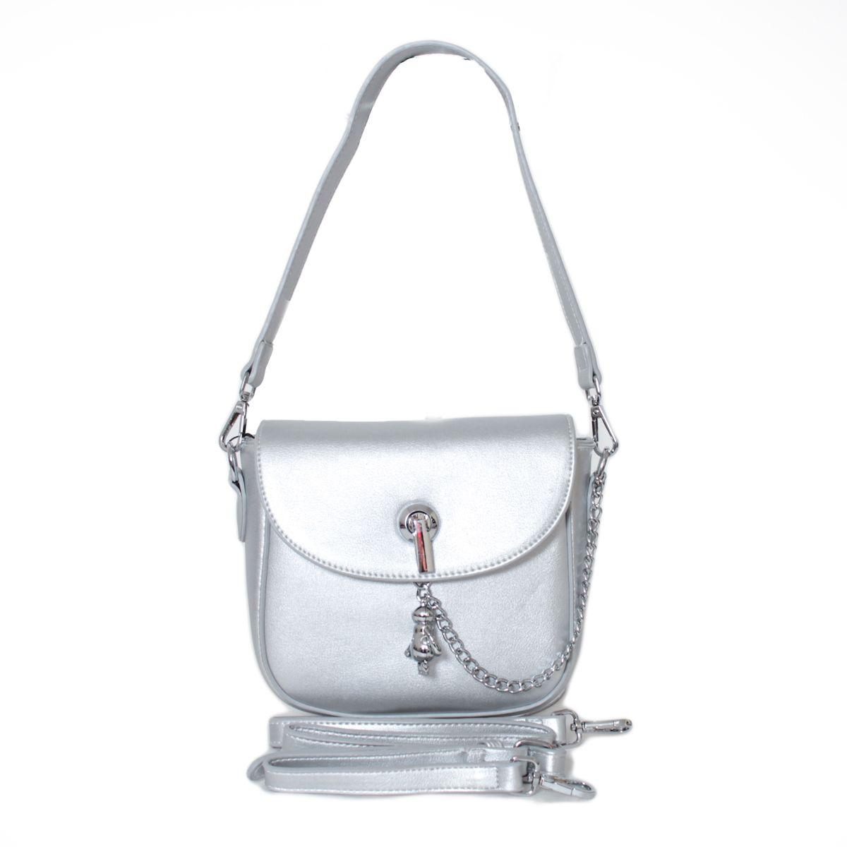 Клатч женский Flioraj, цвет: серый. 88298829 steelЗакрывается на молнию. Внутри одно отделение, два кармана для мобильного телефона, карман на молнии. В комплекте длинный наплечный ремень.