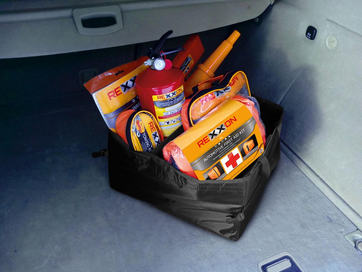 Органайзер складной в багажник Rexxon 40 х 30 х 25 см3-11-1-1-1_черныйПредназначен для удобства перевозки и хранения вещей. Состав: нейлон