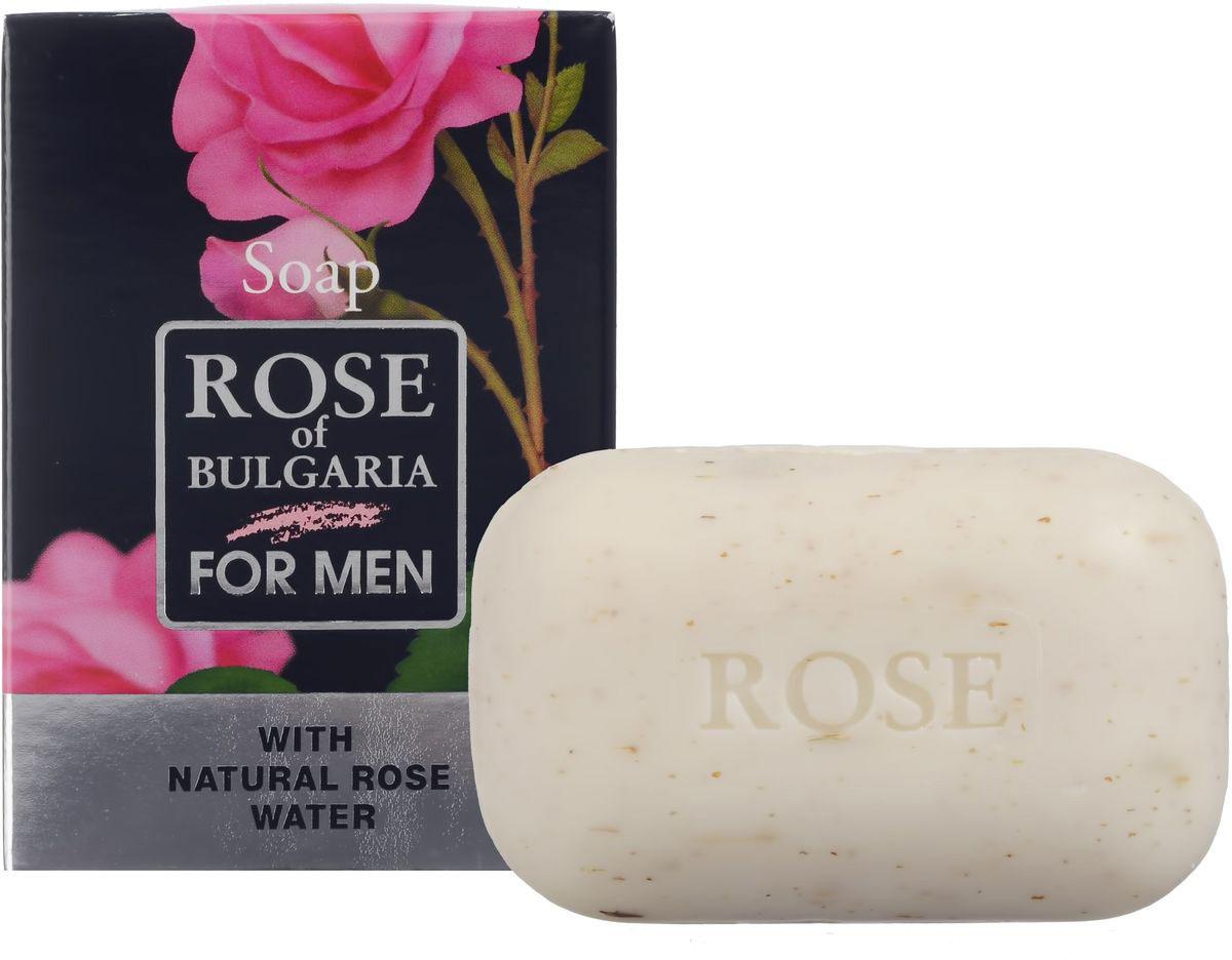 Rose of Bulgaria for men Мыло, 100 г62880Косметическое мыло люкс для мужчин. Деликатно очищает в глубине кожу, сохраняет ее влагу, делает мягкой, эластической и гладкой. Отличное сочетание деликатного моющего эффекта и типичного мужского долгостойкого аромата. Натуральная розовая вода, которая включена в состав, невероятно богата активными веществами, которые стимулируют регенерацию и усиливают защитные функции кожи. Содержит нежные эксфолирующие пшеничные частицы и сухие цветки лаванды.