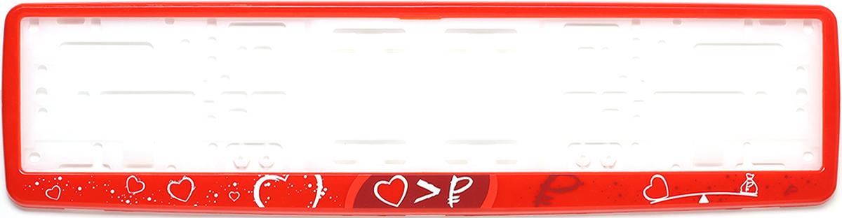 Рамка для номера Концерн Знак Арифметика любви, цвет: красный