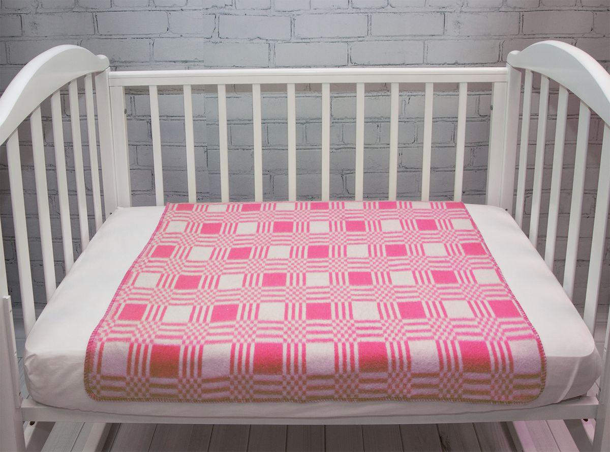 Одеяло детское Baby Nice Клетка цвет розовый