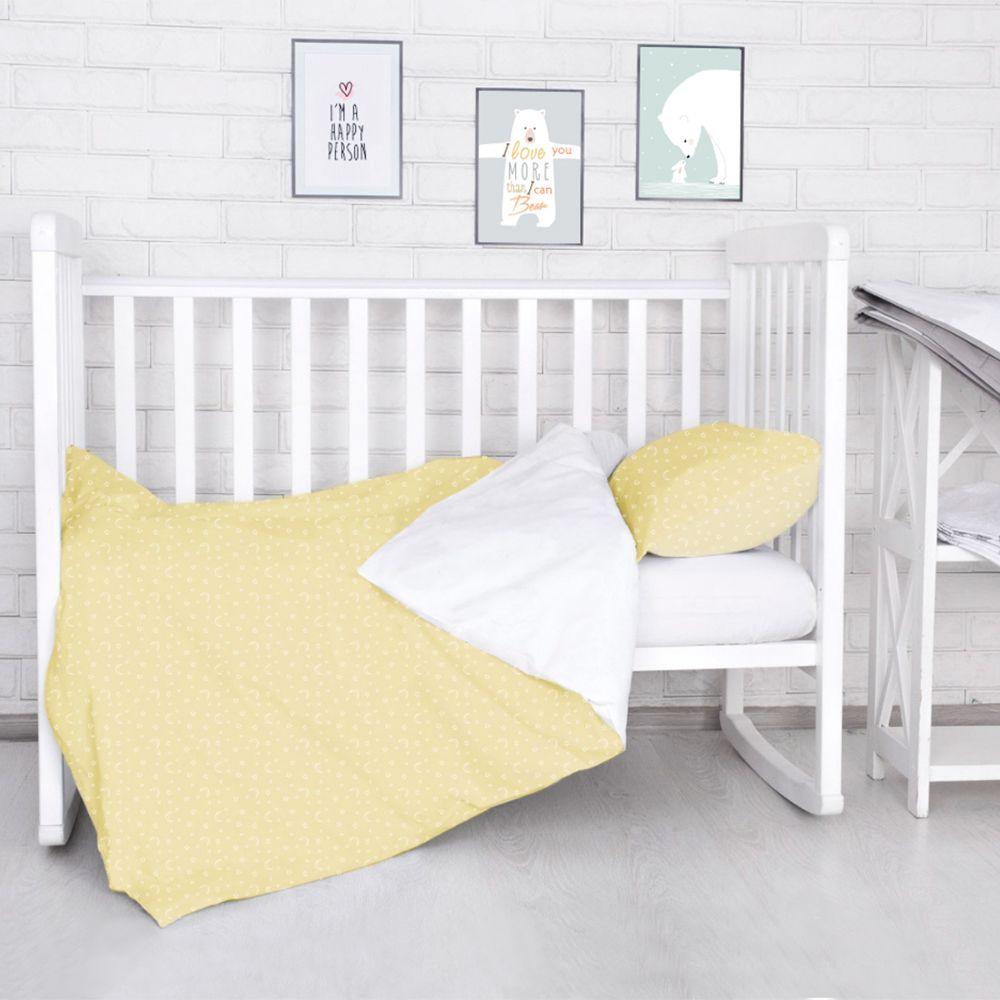 Комплект постельного белья детский Baby Nice Луны Звездочки цвет бежевый