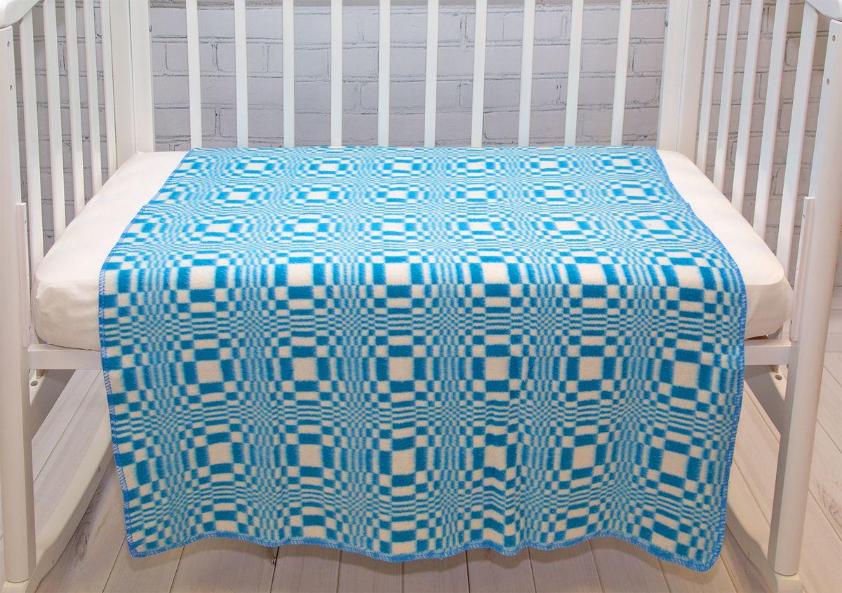 Одеяло детское Baby Nice Клетка цвет голубой
