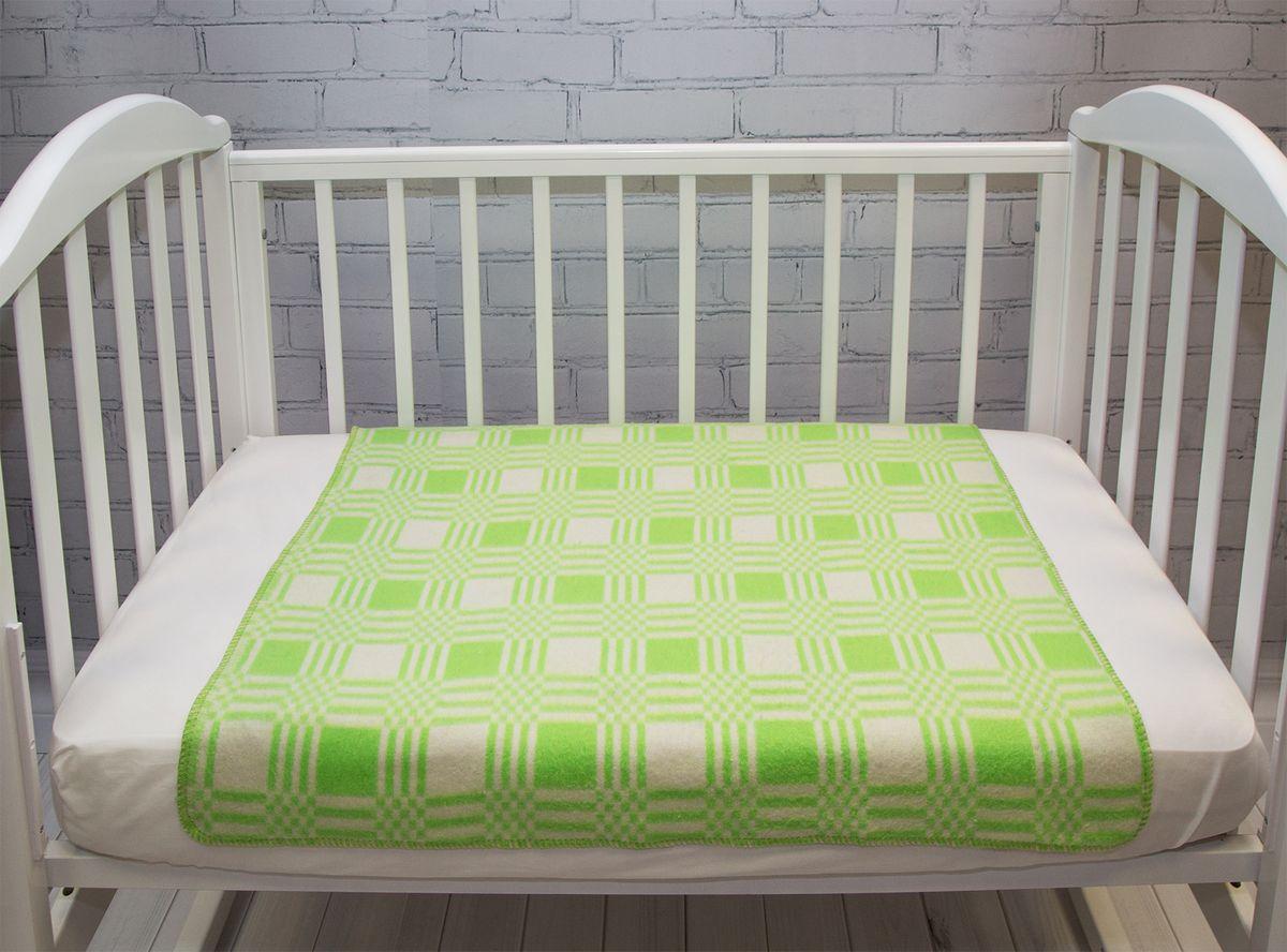 Одеяло детское Baby Nice Клетка цвет салатовый