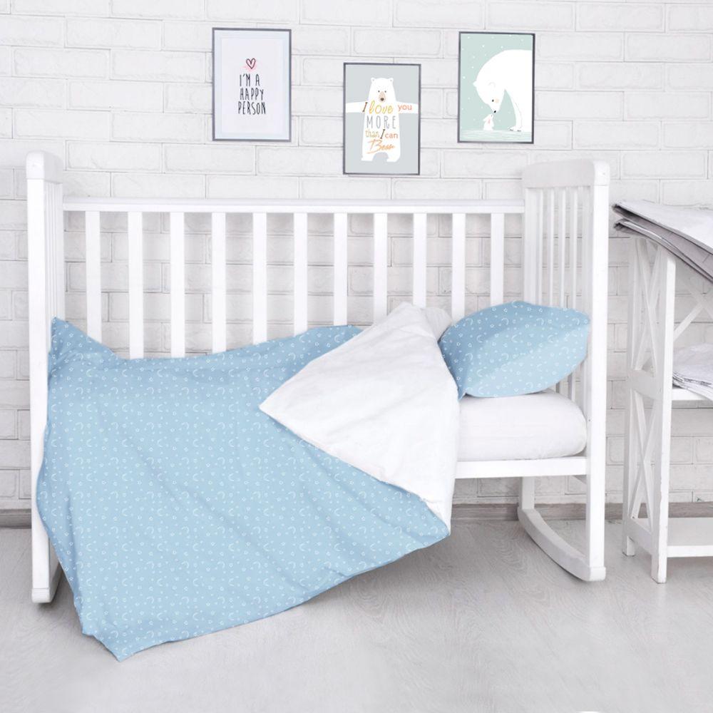 Комплект постельного белья детский Baby Nice Луны Звездочки цвет голубой