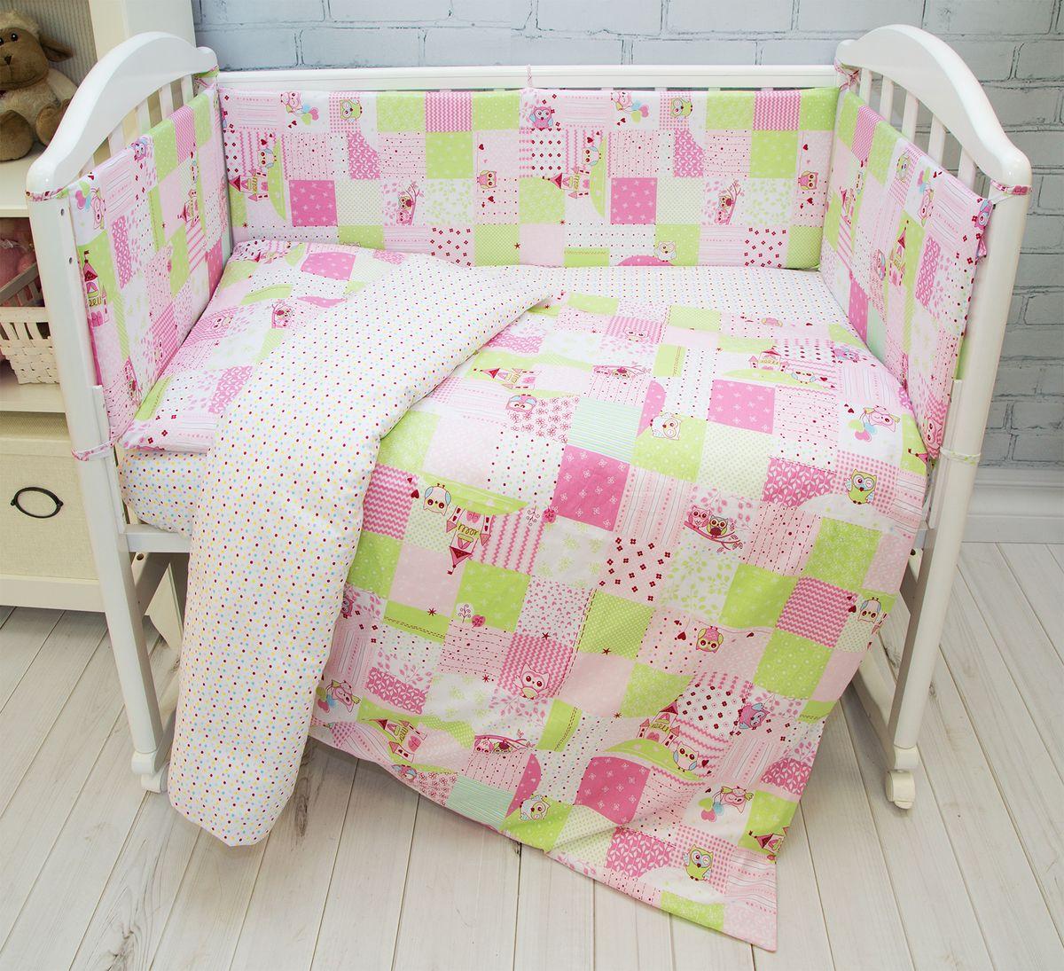 Споки Ноки Комплект постельного белья детский Совы цвет розовый