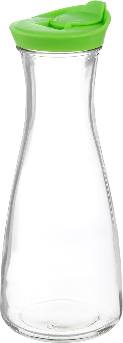 Бутылка для напитков Zeller, цвет: прозрачный, салатовый, 900 мл19705_прозрачный, салатовыйБутылка для напитков Zeller, изготовленная из прочного стекла, оснащена пластиковой крышкой с отверстием для жидкости. Это позволяет дозированно наливать содержимое. Изделие предназначено для воды, чая, фруктовых соков и других холодных напитков. Оригинальный дизайн и эргономичная форма превращают бутылку в стильный и функциональный аксессуар. Такая бутылка идеальна для ежедневного использования. Она украсит любой интерьер кухни и пригодится как дома, так и на даче. Диаметр бутылки (по верхнему краю): 6,2 см. Диаметр основания бутылки: 9,5 см. Высота бутылки (с учетом крышки): 26 см.