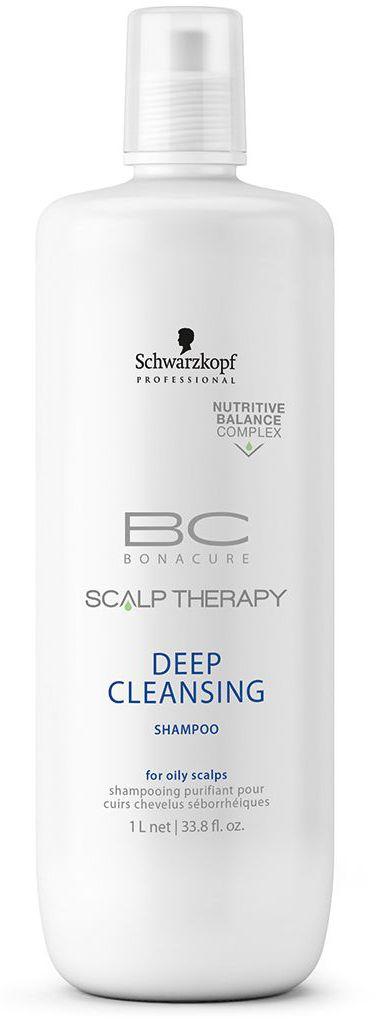 Bonacure Шампунь для глубокого очищения Scalp Therapy Deep Cleansin 1000 мл1753143Очищающий шампунь для всех типов волос, выглядящих маслянистыми и для жирной кожи головы. Поверхносто - активные вещества, полученные из кокоса мягко, но Эффективно очищает кожу головы. Благодаря ментолу шампунь оставляет ощущение чистоты и свежести. Пантенол поддерживает необходимый баланс влаги.
