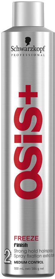 OSiS+ Лак для волос сильной фиксации Freeze 500 мл лак неаэрозольный экстра сильной фиксации для объема spritz