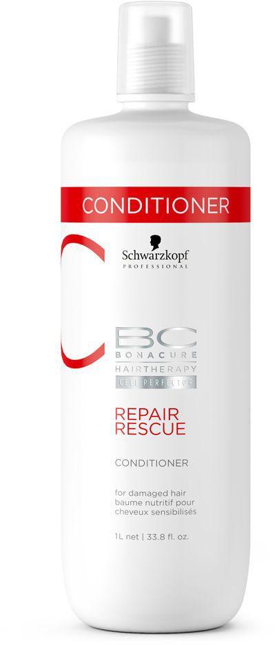 Bonacure Repair Rescue Спасительное Восстановление Кондиционер 1000 мл2015611Насыщенный крем - кондиционер для поврежденных, тусклых, пористых и ломких волос. Высокоэффективная формула окутывает каждую прядь волос, разглаживая и запечатывая поверхность волоса. Повышает эластичность, облегчает расчесывание, придает блеск. Рекомендуется использовать в комплексе с шампунем BC Repair Rescue