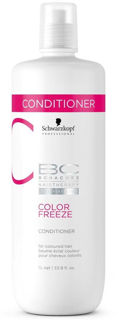 Bonacure Сияние Цвета Кондиционер Color Freeze 1000 мл2065441Кондиционер для окрашенных волос с формулой контроль цвета. Укрепляет структуру волос и удерживает оптимальный уровень pH 4.5, снижая потерю яркости цвета до 0. Усиливает сияние окрашенных волос, устраняет пушистость и разглаживает поверхность волоса. Рекомендуется использовать в комплексе с шампунем BC COLOR FREEZE.