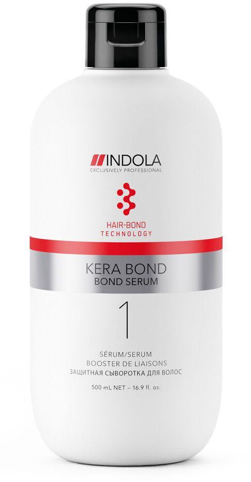 Indola Защитная сыворотка Kera Bond 500 мл2076127Двух ступенчатая технология Kera Bond - это инновационная технология Hair Bond Technology, современный ассортимент продуктов против ломкости волос, предотвращающий повреждение волос во время химических процедур и значительно улучшающий качество волос, даже ранее окрашенных. Bond Serum усиливает связи в волосе во время химических процессов и уменьшает ломкость волос при смешивании с обесцвечивающими, осветляющими и красящими системами