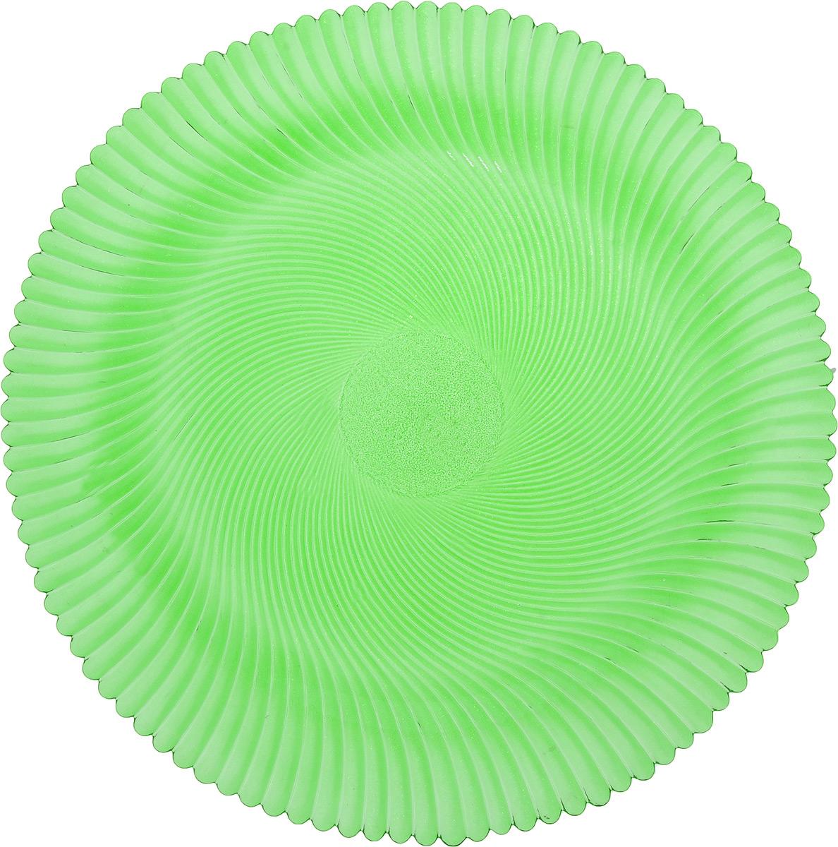 Блюдо NiNaGlass Альтера, цвет: зеленый, диаметр 32 см83-028-ф320 ЗЕЛБлюдо NiNaGlass Альтера, изготовленное из высококачественного стекла, имеет круглую форму и прекрасно подойдет для подачи нарезок, закусок и других блюд. Внешняя стенка изделия имеет рельефную форму. Такое блюдо украсит сервировку вашего стола и подчеркнет прекрасный вкус хозяйки. Диаметр блюда (по верхнему краю): 32 см. Высота блюда: 2 см.