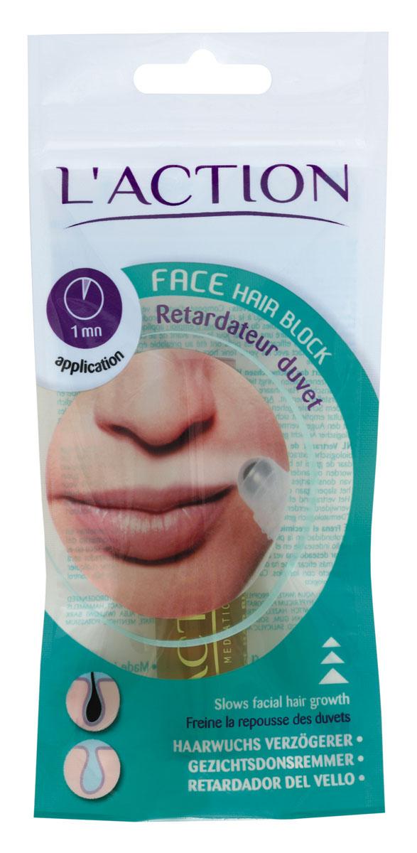 Laction Средство для лица, предотвращающее рост волос Face Hair Block, 10 мл556170Высококонцентрированный препарат содержит растительные экстракты, которые проникают глубоко в кожу (до корня волоса) и блокируют рост волос на лице, шее, зоне декольте и др. Средство легко и удобно использовать благодаря встроенному роликовому аппликатору. Активные ингредиенты: - салициловая кислота является мягким антисептиком, разрушает протеины нежелательных волос; - гамамелис оказывает вяжущее действие; - арника успокаивает кожу и борется с застойными явлениями; - мята способствует заживлению кожи; - соя эффективно смягчает.