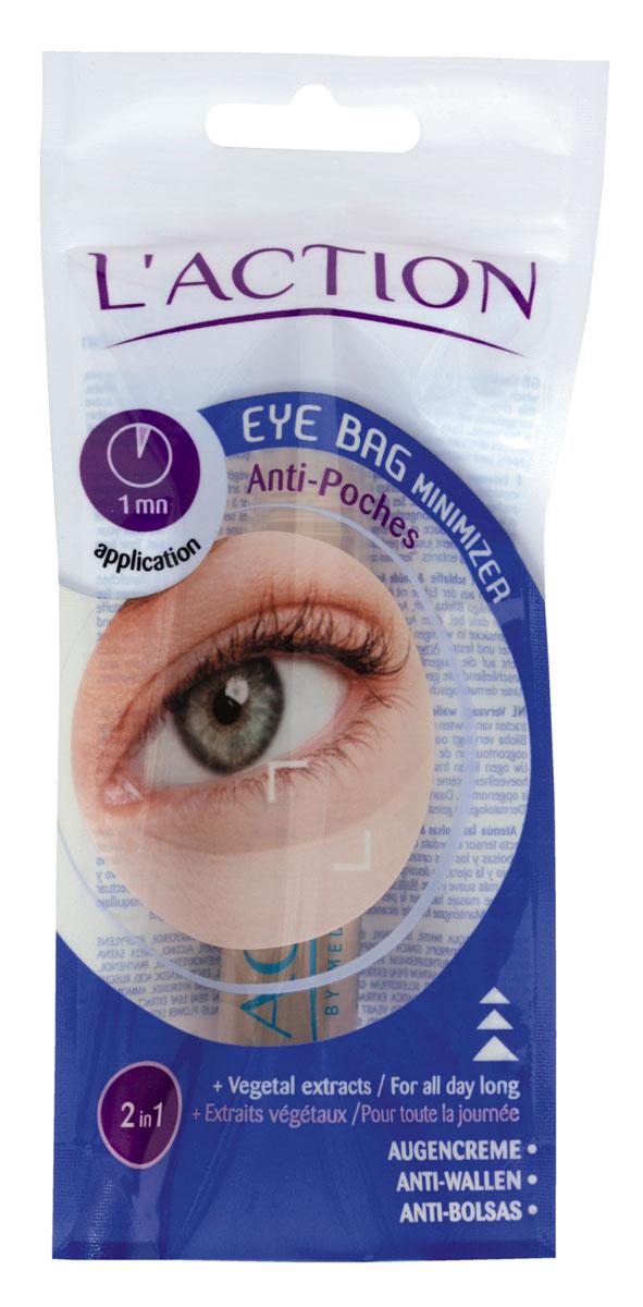Laction Средство для уменьшения мешков под глазами Eye Bag Minimizer, 20 мл603571Незаменимое средство по уходу за усталыми и припухшими глазами. Растительная формула крема позволяет подтянуть кожу и удалить круги под глазами за секунды. Активные компоненты: Экстракт гингко-билоба и зеленого чая помогают уменьшить припухлость век (при ежедневном использовании в течение нескольких недель). Кожа вокруг глаз выглядит более сияющей, становится мягкой и упругой. В состав средства входит комплекс протеинов белого гороха и натуральных полисахаридов, который отвечает за увлажнение и разглаживание кожи, а также повышает ее эластичность.