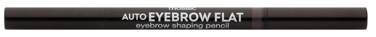 Eva Mosaic Карандаш для бровей Auto Eyebrow Flat, 0,25 г, 01818429Карандаш от бренда Eva Mosaic поможет любой женщине создать идеальную форму бровей. Он обладает удобной треугольной формой грифеля. С помощью острого кончика вы создадите четкими графичные линии, а плоский - сделает более мягкие и плавные штрихи. Благодаря щеточке на другом конце карандаша, вы сможете уложить брови или растушевать цвет. Грифель очень прочный, но при этом мягкий, не ломается и не крошится. Карандаш содержит витамины С и Е, сок листьев алоэ, масло жожоба и семян подсолнечника.