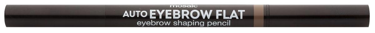 Eva Mosaic Карандаш для бровей Auto Eyebrow Flat, 0,25 г, 02818430Карандаш от бренда Eva Mosaic поможет любой женщине создать идеальную форму бровей. Он обладает удобной треугольной формой грифеля. С помощью острого кончика вы создадите четкими графичные линии, а плоский - сделает более мягкие и плавные штрихи. Благодаря щеточке на другом конце карандаша, вы сможете уложить брови или растушевать цвет. Грифель очень прочный, но при этом мягкий, не ломается и не крошится. Карандаш содержит витамины С и Е, сок листьев алоэ, масло жожоба и семян подсолнечника.