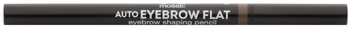 Eva Mosaic Карандаш для бровей Auto Eyebrow Flat, 0,25 г, 04818432Карандаш от бренда Eva Mosaic поможет любой женщине создать идеальную форму бровей. Он обладает удобной треугольной формой грифеля. С помощью острого кончика вы создадите четкими графичные линии, а плоский - сделает более мягкие и плавные штрихи. Благодаря щеточке на другом конце карандаша, вы сможете уложить брови или растушевать цвет. Грифель очень прочный, но при этом мягкий, не ломается и не крошится. Карандаш содержит витамины С и Е, сок листьев алоэ, масло жожоба и семян подсолнечника.
