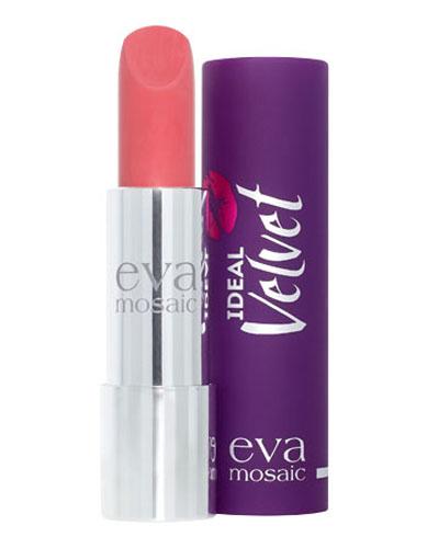 Eva Mosaic Губная помада Ideal Velvet матовая, 4,3 г, 01821975Матовая с высоким содержанием пигмента формула помады подарит вашим губам интенсивный цвет. Превосходно наносится, оставляя тонкое равномерное устойчивое покрытие. Входящие в состав витамины E и F смягчают и увлажняют нежную кожу губ в течение всего дня. Не содержит силикона. Помаду можно наносить самостоятельно или в сочетании с контурным карандашом. Для наилучшего результата рекомендуется наносить на предварительно увлажненную кожу губ.