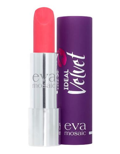 Eva Mosaic Губная помада Ideal Velvet матовая, 4,3 г, 04821978Матовая с высоким содержанием пигмента формула помады подарит вашим губам интенсивный цвет. Превосходно наносится, оставляя тонкое равномерное устойчивое покрытие. Входящие в состав витамины E и F смягчают и увлажняют нежную кожу губ в течение всего дня. Не содержит силикона. Помаду можно наносить самостоятельно или в сочетании с контурным карандашом. Для наилучшего результата рекомендуется наносить на предварительно увлажненную кожу губ.