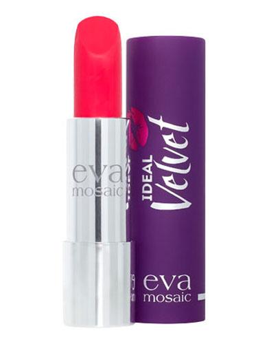 Eva Mosaic Губная помада Ideal Velvet матовая, 4,3 г, 05821979Матовая с высоким содержанием пигмента формула помады подарит вашим губам интенсивный цвет. Превосходно наносится, оставляя тонкое равномерное устойчивое покрытие. Входящие в состав витамины E и F смягчают и увлажняют нежную кожу губ в течение всего дня. Не содержит силикона. Помаду можно наносить самостоятельно или в сочетании с контурным карандашом. Для наилучшего результата рекомендуется наносить на предварительно увлажненную кожу губ.