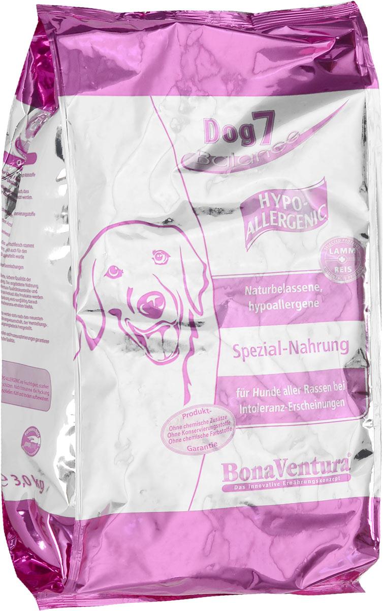 Корм сухой BonaVentura Dog 7 Hipo Allergenic для собак, гипоаллергенный, с бараниной и рисом, 3 кг205403Натуральный гиппоалергенный корм для собак BonaVentura Dog 7 Hipo Allergenic произведен из продуктов, пригодных в пищу человека по специальной технологии, схожей с технологией Sous Vide. Благодаря технологии при изготовлении сохраняются все натуральные витамины и минералы. Это достигается благодаря бережной обработке всех ингредиентов при температуре менее 80 градусов. Такая бережная обработка продуктов не стерилизует продуктовые компоненты. Благодаря этому корма не нуждаются ни в каких дополнительных вкусовых добавках и сохраняют все необходимые полезные вещества. При производстве кормов используются исключительно свежие натуральные продукты: мясо, овощи и зерновые; Приготовлено из 100% свежего мяса, пригодного в пищу человеку; Содержит натуральные витамины, аминокислоты, минеральные вещества и микроэлементы; С экстрактом масла зародышей зерна пшеницы холодного отжима (Bio-Dura); Без химических красителей, усилителей вкуса, искусственных консервантов и...