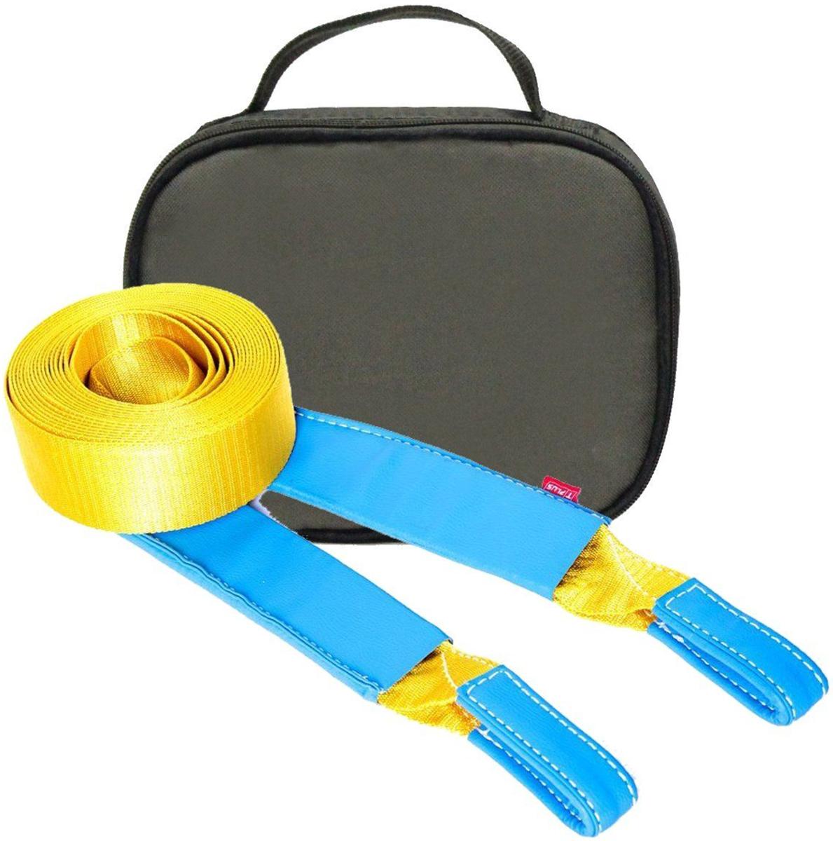 Строп динамический Tplus Стандарт, рывковый, с сумкой, цвет: оливковый, 6 т, 5 м.T001959Минимальная разрывная нагрузка (MBS): 6 т; Длина: 5 м; Ширина ленты: 70 мм; Материал ленты: полиамид; Защита петель: экокожа; Защита швов: экокожа; Эластичность (удлинение при нагрузке): 20%; Исполнение: петля/петля; Применяется для а/м массой* от 1 до 1.8 т; Сумка (оксфорд); Гарантия: 1 год. *масса а/м = снаряженная масса а/м + 100 кг (+20% при эвакуации а/м из грязи). Если а/м оснащен дополнительным оборудованием (силовой бампер, лебёдка и т. п.), то масса а/м = снаряженная масса а/м + 100 кг + масса дополнительно установленного навесного оборудования (+20% при эвакуации а/м из грязи).