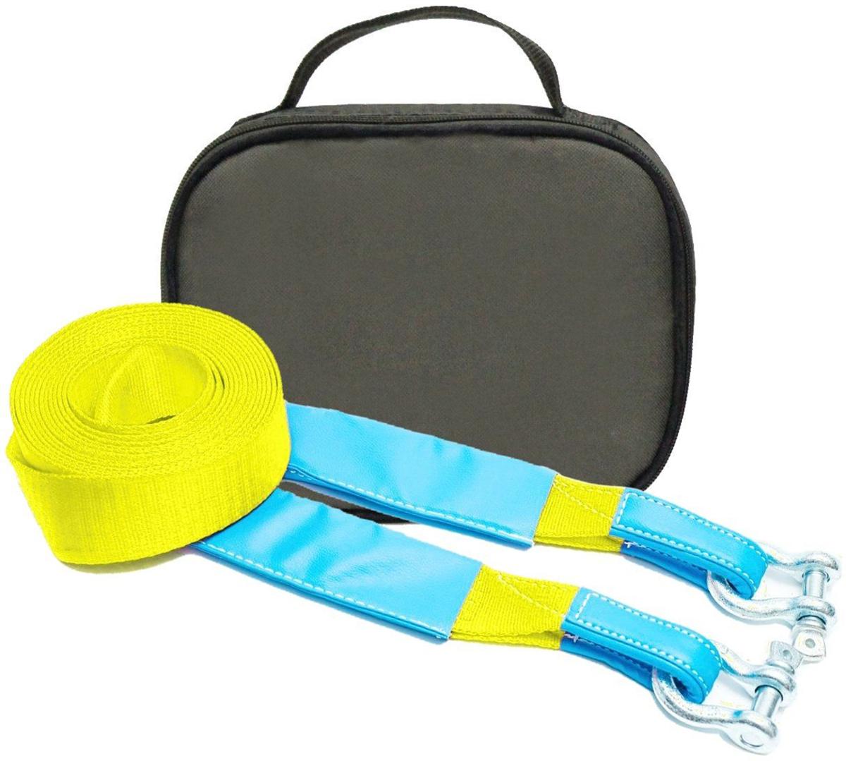 Строп динамический Tplus Стандарт, рывковый, с сумкой, цвет: оливковый, с шаклами, 6 т, 9 м. T001961T001961Минимальная разрывная нагрузка (MBS): 6 т; Длина: 9 м; Ширина ленты: 70 мм; Материал ленты: полиамид; Защита петель: экокожа; Защита швов: экокожа; Эластичность (удлинение при нагрузке): 20%; Исполнение: петля/петля; Шакл 2/12 т: 2 шт. (безопасная рабочая нагрузка (SWL)/минимальная разрывная нагрузка (MBS); Применяется для а/м массой* от 1 до 1.8 т; Сумка (оксфорд); Гарантия: 1 год. *масса а/м = снаряженная масса а/м + 100 кг (+20% при эвакуации а/м из грязи). Если а/м оснащен дополнительным оборудованием (силовой бампер, лебёдка и т. п.), то масса а/м = снаряженная масса а/м + 100 кг + масса дополнительно установленного навесного оборудования (+20% при эвакуации а/м из грязи).