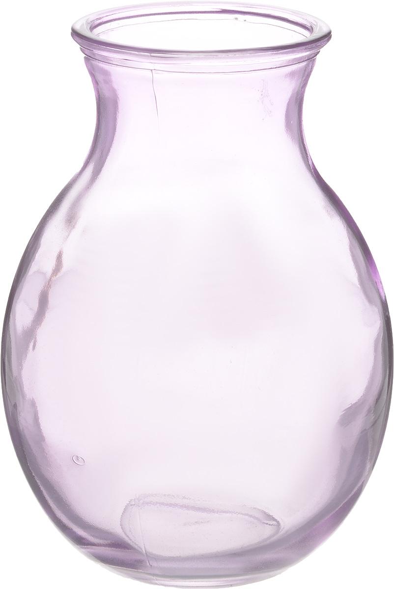 Ваза NiNaGlass Доника, цвет: сиреневый, высота 19,5 см92-003-1 СИРВаза NiNaGlass Доника выполнена из высококачественного стекла с сиреневым оттенком и имеет изысканный внешний вид. Такая ваза станет ярким украшением интерьера и прекрасным подарком к любому случаю. Высота вазы: 19,5 см. Диаметр вазы (по верхнему краю): 9 см.