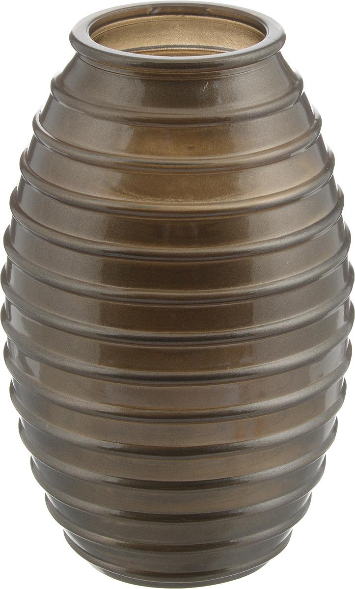 Ваза NiNaGlass Лайт, цвет: шоколад, высота 20 см92-002 ШОКВаза NiNaGlass Лайт выполнена из высококачественного стекла и имеет изысканный внешний вид. Такая ваза станет ярким украшением интерьера и прекрасным подарком к любому случаю. Высота вазы: 20 см. Диаметр вазы (по верхнему краю): 6 см.