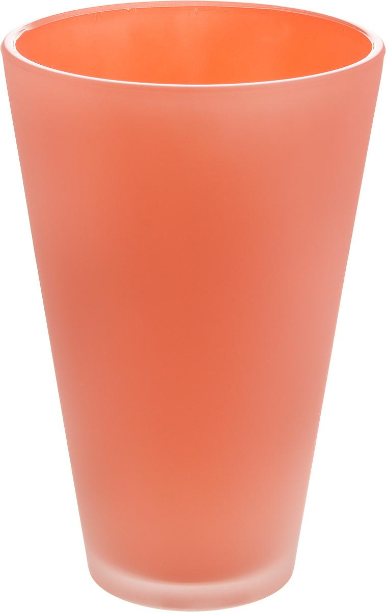 Кашпо NiNaGlass, цвет: коралловый, высота 21 см91-014-ф140 КОРАЛЛКашпо NiNaGlass имеет уникальную форму, сочетающуюся как с классическим, так и с современным дизайном интерьера. Оно изготовлено из высококачественного стекла и предназначено для выращивания растений, цветов и трав в домашних условиях. Кашпо NiNaGlass порадует вас функциональностью, а благодаря лаконичному дизайну впишется в любой интерьер помещения. Диаметр кашпо (по верхнему краю): 14 см. Высота кашпо: 21 см.